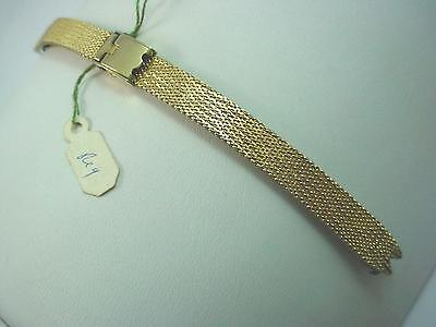 Finesse Ladies Gold Filled Vintage Watch Band C Ring Sliding Clasp New Old Stock