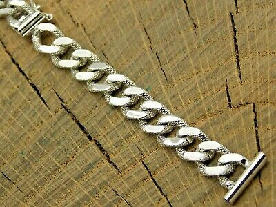 Vintage NOS Unused JB Champion Rhodium Finish Ladies Watch Band 14mm Bracelet
