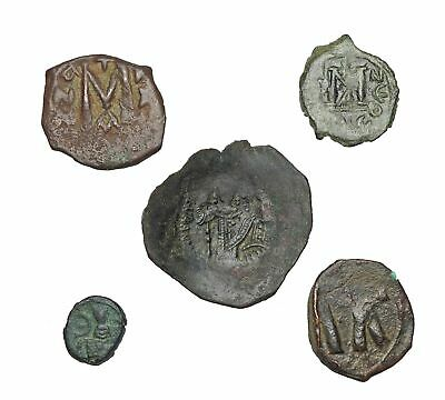 Lot of 5 Byzantine coins, good variety of types