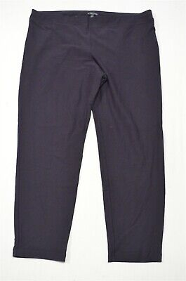 Eileen Fisher 1X Plus Navy Blue Crepe Pull On Slim Ankle Dress Pants