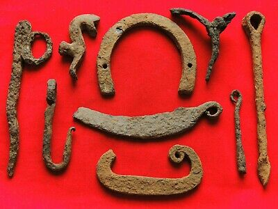Viking and Middle Ages Nine Bronze Artifacts