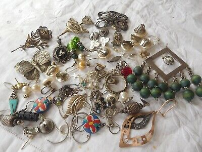Lovely Mixed Job Lot of Assorted Vintage Sterling Silver Jewellery scrap repair
