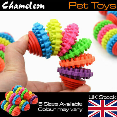 Dog Chew Ball Toy Rubber treat  Clean Teeth Healthy Treat Gum Bite Puppy Pet