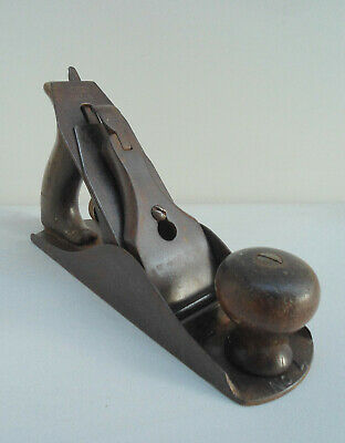 Vintage Stanley wood plane No.4 / with blade. Made in England