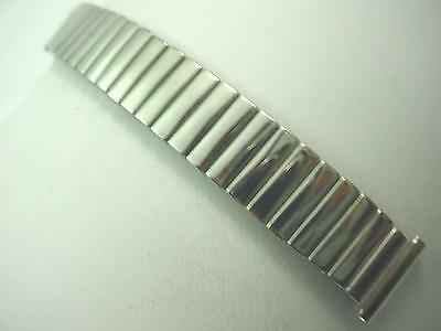 "Lenox Mens Vintage Watch Band Overhand Expansion 16mm 5/8"" Short Stainless Steel"