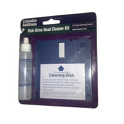 Columbia Additions Disk Drive Head Cleaner Kit Brand New