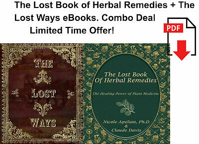 The Lost Book of Remedies Herbal Medicine by Claude Davis and The Lost Ways 🔥