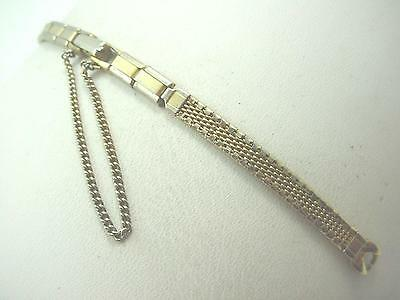 Butterfly Clasp Gold Tone Vintage Ladies Watch Band Brite C Ring Pre-Owned