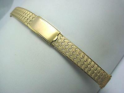 "Ladies Speidel Rolled Gold Vintage Watch Band 13mm 1/2"" Deployment Clasp NOS"