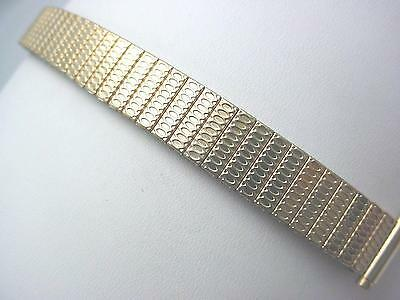 "Vintage JB Champion Rolled Gold Straight Expnsn 11mm-14mm 1/2"" Ladies Watch Band"