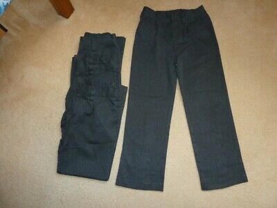 4 pairs of boys Next grey school trousers 8 years