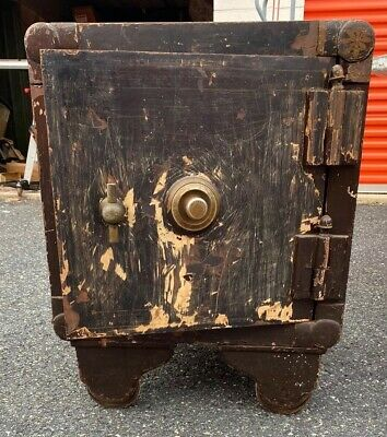 "Antique Floor Safe  ""21 Inches Wide"" No Combination ""Safe Cracker Special"""