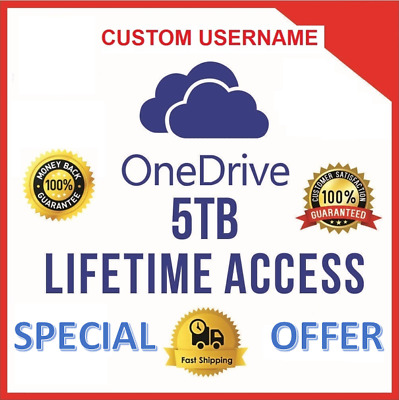 Onedrive 5TB CUSTOM Account - Best Price - Fast Delivery 60m - NEW