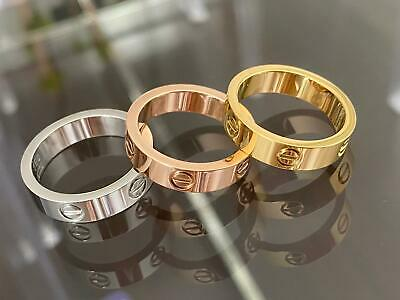 Premium High Quality Stainless Steel Love Ring & Matching Bracelet