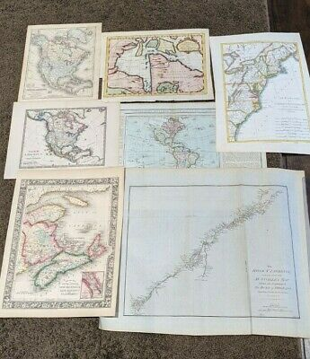 Lot Of ( 7 )  Vintage Maps 18Th/ 19Th Century  North America Maps!