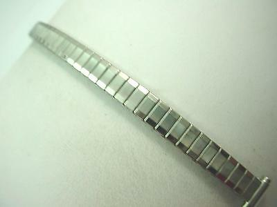 """8mm-10mm 3/8"""" Ladies Vintage Watch Band Stainless Steel Straight Expansion NOS"""