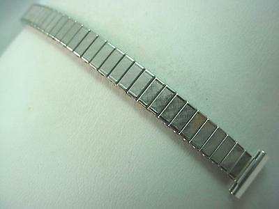 """Ladies Vintage JB Champion Watch Band 13mm 1/2"""" Straight Expansion Stainless NOS"""