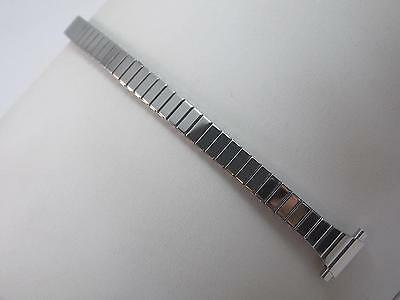 "11mm-14mm 1/2"" Ladies Vintage Watch Band Speidel Stainless Stl Strght Expansion"