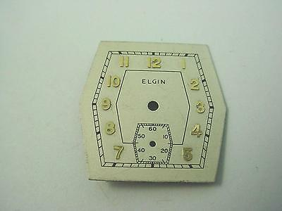 Elgin 24.08mm X 23.19mm Vintage Pearl Watch Dial Subdial 6mm Gold Numeral Markrs