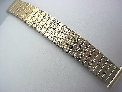 "JB Champion Rolled Gold Straight Expnsn 11mm-14mm 1/2"" Ladies Vintage Watch Band"