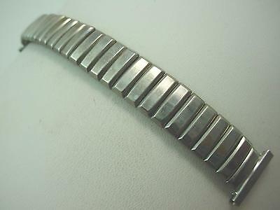 "Short Watch Band Foster Mens Vintage Stainless Stl 16mm 5/8"" Overhand Expansion"