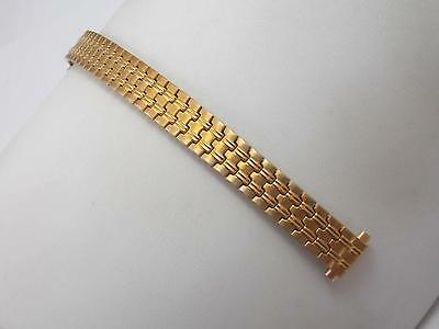 """Speidel Watch Band Vintage Ladies Gold Tone 9mm-13mm 3/8""""-1/2"""" Strght Expansion"""