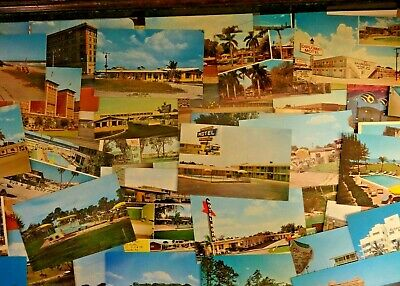 Lot Of 50 + Vintage Chrome  Postcards *** Unused / Usa & Foreign , All Sizes ,