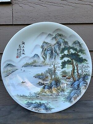 Chinese Antique  famille Rose porcelain Big Plate China Asian