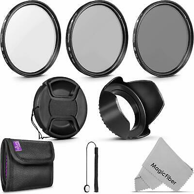 55MM Altura Photo UV CPL ND4 Professional Lens Filter Kit and Accessory Set for