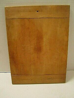 Old Primitive Farmhouse Wooden Cutting Board With Bread Board Ends
