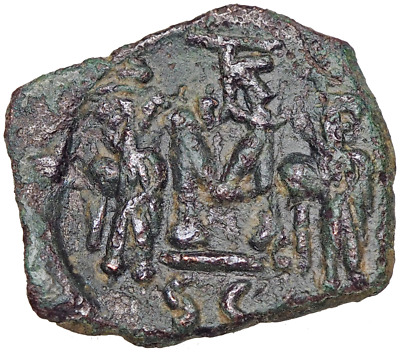 Constans II, with Constantine IV, Heraclius, and Tiberius. 641-668, Syracuse