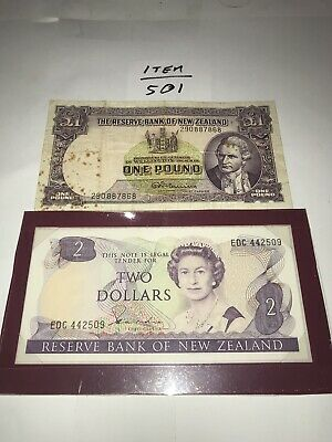 New Zealand Banknotes One $2.00 Dollar Note Uncirculated Ten Notes In Total