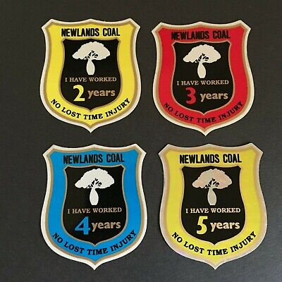 Newlands Coal - No Lost Time Injury - Mining Stickers