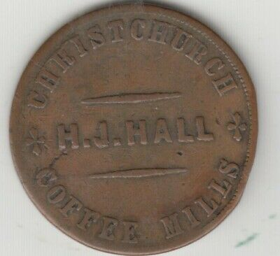 Australia, Trade Store Token Penny, Hall Chtistchurch
