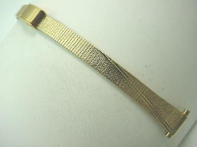 """Gold Tone Gilden Ladies Sliding Clasp Vintage Watch Band 10mm-13mm 3/8"""" -1/2"""""""