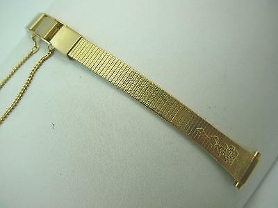 """Rose Gilden Ladies Vintage Watch Band Gold Tone 10mm-13mm 3/8""""-1/2"""" Butterfly"""