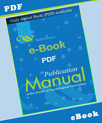 Publication Manual of the American Psychological Association 6th Ed (2013) ⚡ΡDϜ⚡