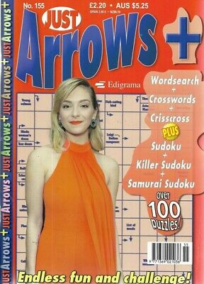 3 Just Arrow Word Books Lots Of Fun 100 + Puzzles In Each For All Ages Free P/P
