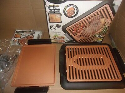 Gotham Steel Smokeless Indoor Grill And Griddle Set Never Used Nice Condition