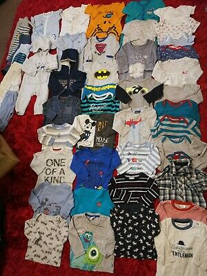 HUGE Bundle Of Baby Boys Clothes #47 6-9 Months NEXT MOTHERCARE F&F NUTMEG