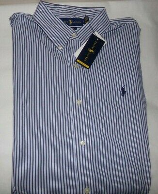 Nwt Mens Polo Ralph Lauren L/S Casual Shirt~Slim Fit~Navy~Med