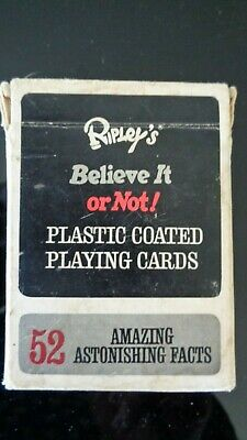 Ripley's Believe It or Not playing cards