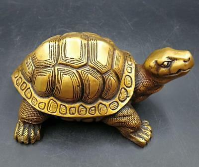 Old China Collectible Culture Delicate Decor Old brass Dragon turtle aa241