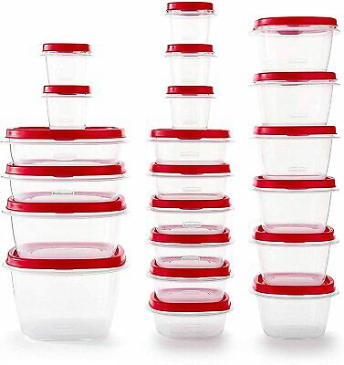 Rubbermaid Easy Find Vented Lids Food Storage Containers, Set of 21 (42 Pieces T