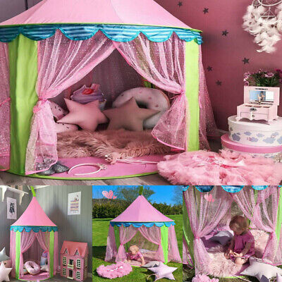 Kids Pop Up Castle Tent Princess Fairy Playing Tent Indoor Outdoor Playhouse Fun