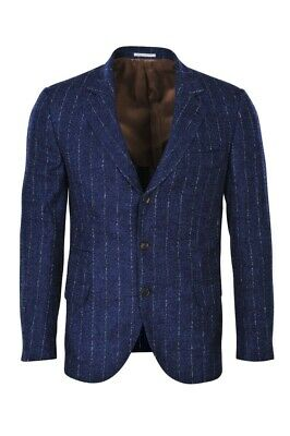 Brunello Cucinelli Blazer Men's 50 SALE !! Blue Slim Twill Alpaca