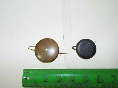 2 Assorted Clock Pendulums 1 Brass Covered  Parts No Reserve