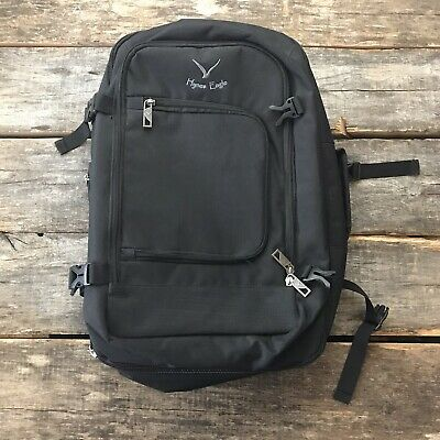 Hynes Eagle 40L Flight Approved Carry On Travel Backpack Black Luggage Bag