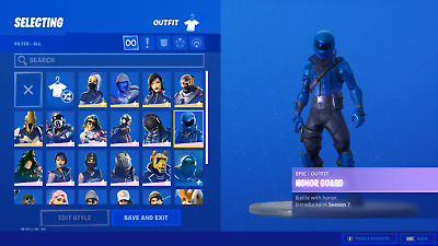 Fortnite Account Honor Guard and Minty Pickaxe FA