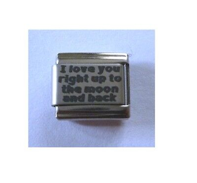 9mm Italian Charm L106 Mum A Mother/'s Love is forever Fits Classic Size Bracelet